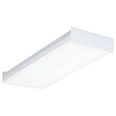 2-Light Square Basket Fluorescent Wraparound for Residential Use