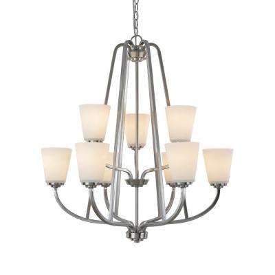 9-Light Brushed Nickel Chandelier