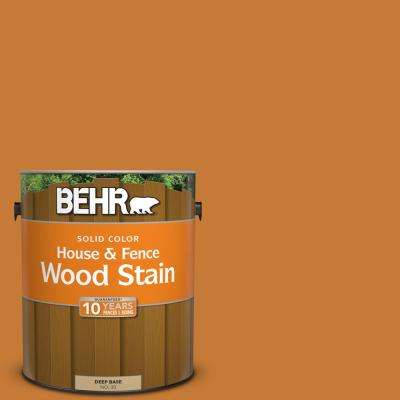 1 gal. #SC-140 Bright Tamra Solid Color House and Fence Exterior Wood Stain
