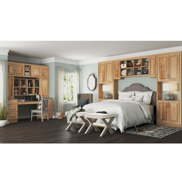Hampton Bay Hampton Assembled 36x42x12 In Wall Kitchen Cabinet In Natural Hickory Kw3642 Nhk The Home Depot