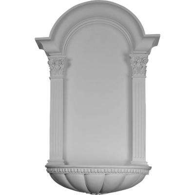 27-1/2 in. x 9 in. x 42-1/4 in. Primed Polyurethane Surface Mount Egg and Dart Fluted Niche
