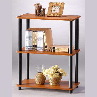 Turn-N-Tube Light Cherry Compact Open Bookcase