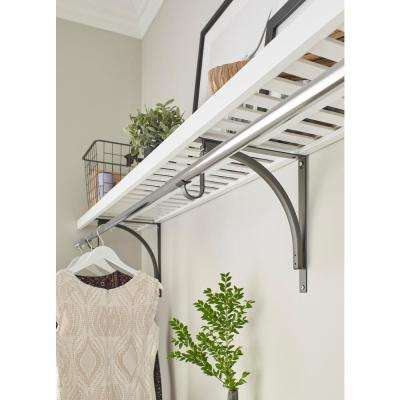 12 in. x 48 in. Ventilated Wood Shelf Kit in White