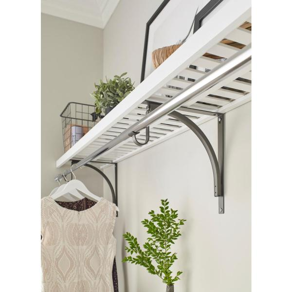 48 in. W x 12 in. D White Ventilated Shelf Kit