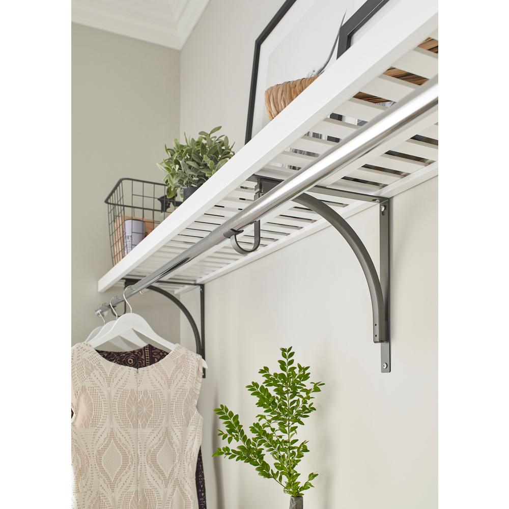 Prime Closetmaid 12 In X 48 In Ventilated Wood Shelf Kit In White Download Free Architecture Designs Fluibritishbridgeorg