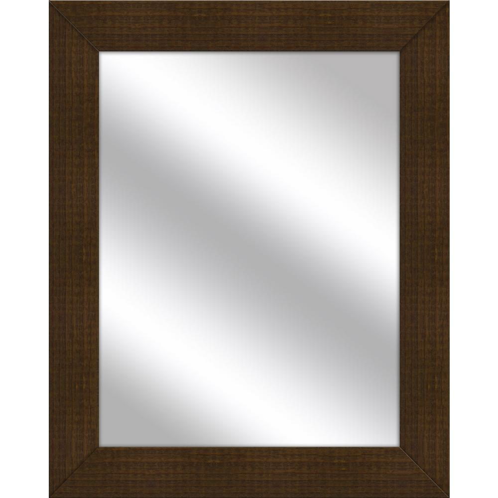 31.5 in. x 25.5 in. Natural Wood Framed Mirror