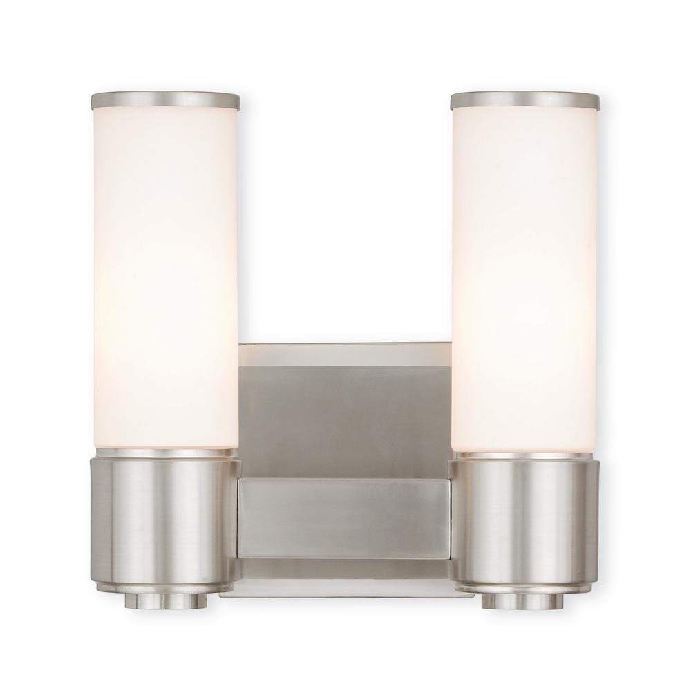 Weston 2-Light Brushed Nickel ADA Bath Light