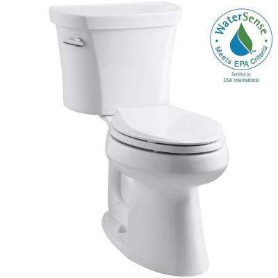 Highline 14 in. Rough-In 2-piece 1.28 GPF Single Flush Elongated Toilet in White