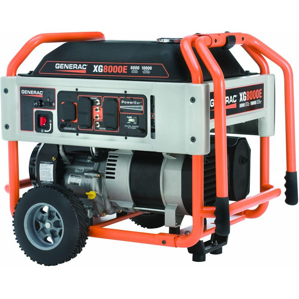 Generac 8,000-Watt Gasoline Powered Electric Start Portable Generator