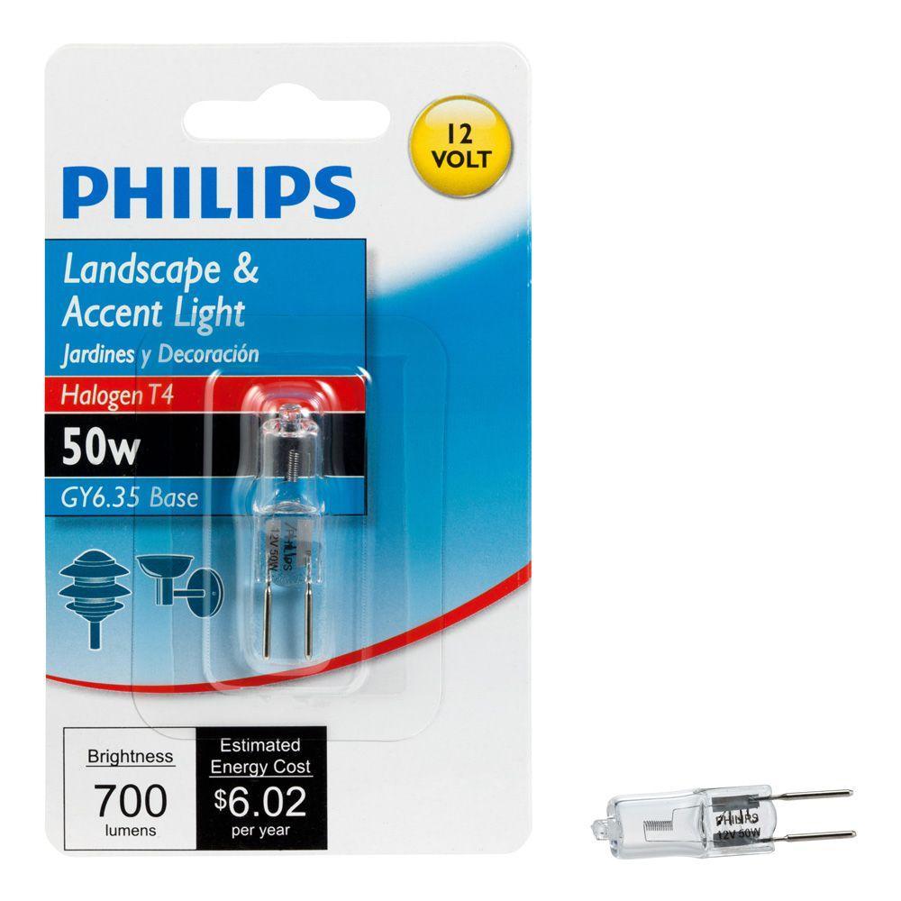 50-Watt T4 Halogen Capsule Light Bulb