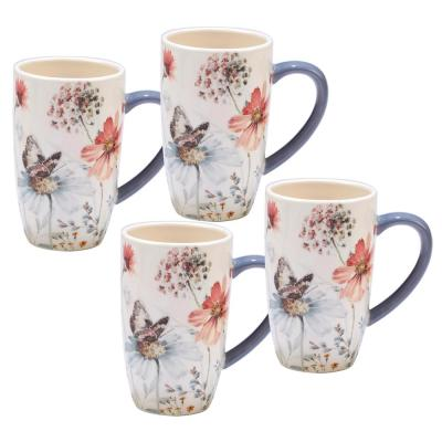 Country Weekend 4-Piece Multi-Colored 14 oz. Mug Set