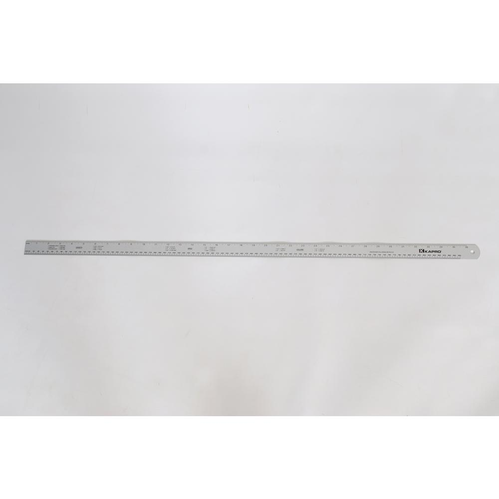 Kapro 36 in. Aluminum Ruler with Conversion Tables with English/Metric Graduations 1/16 and mm