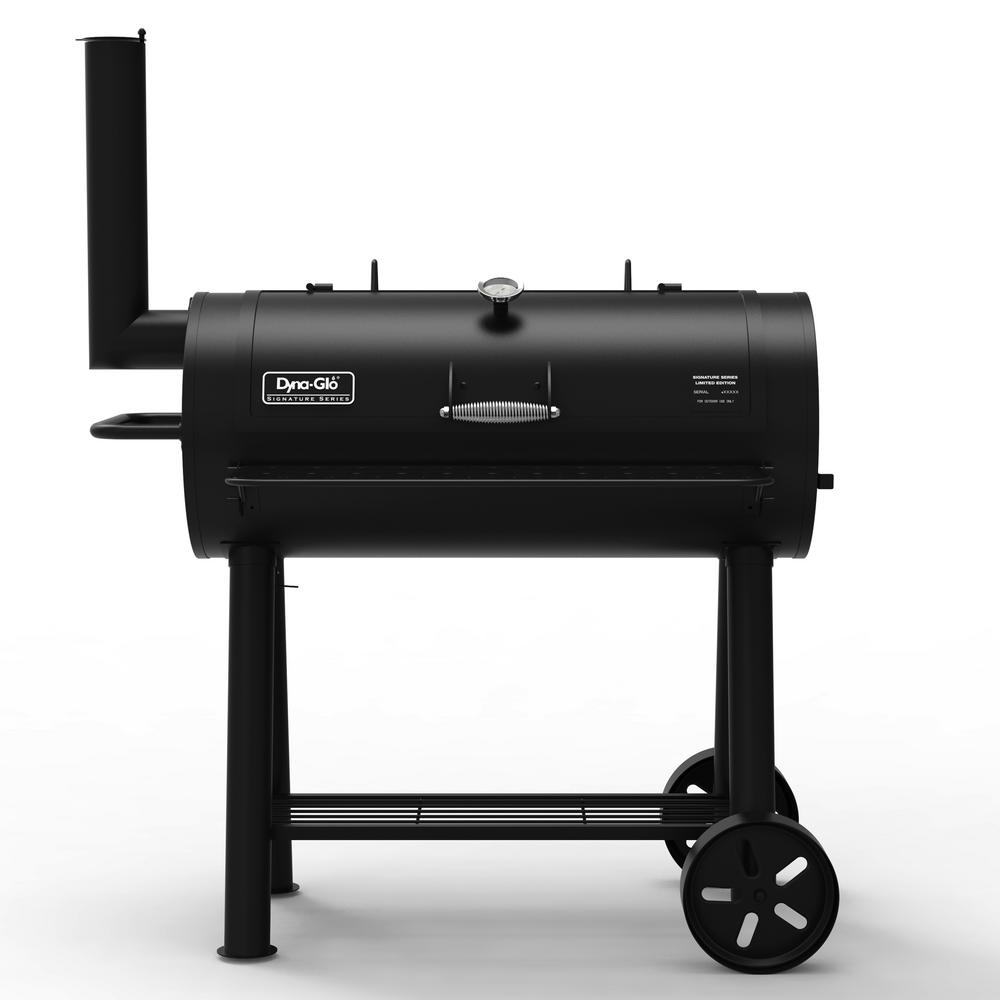 Signature Series Heavy Duty Barrel Charcoal Grill in Black