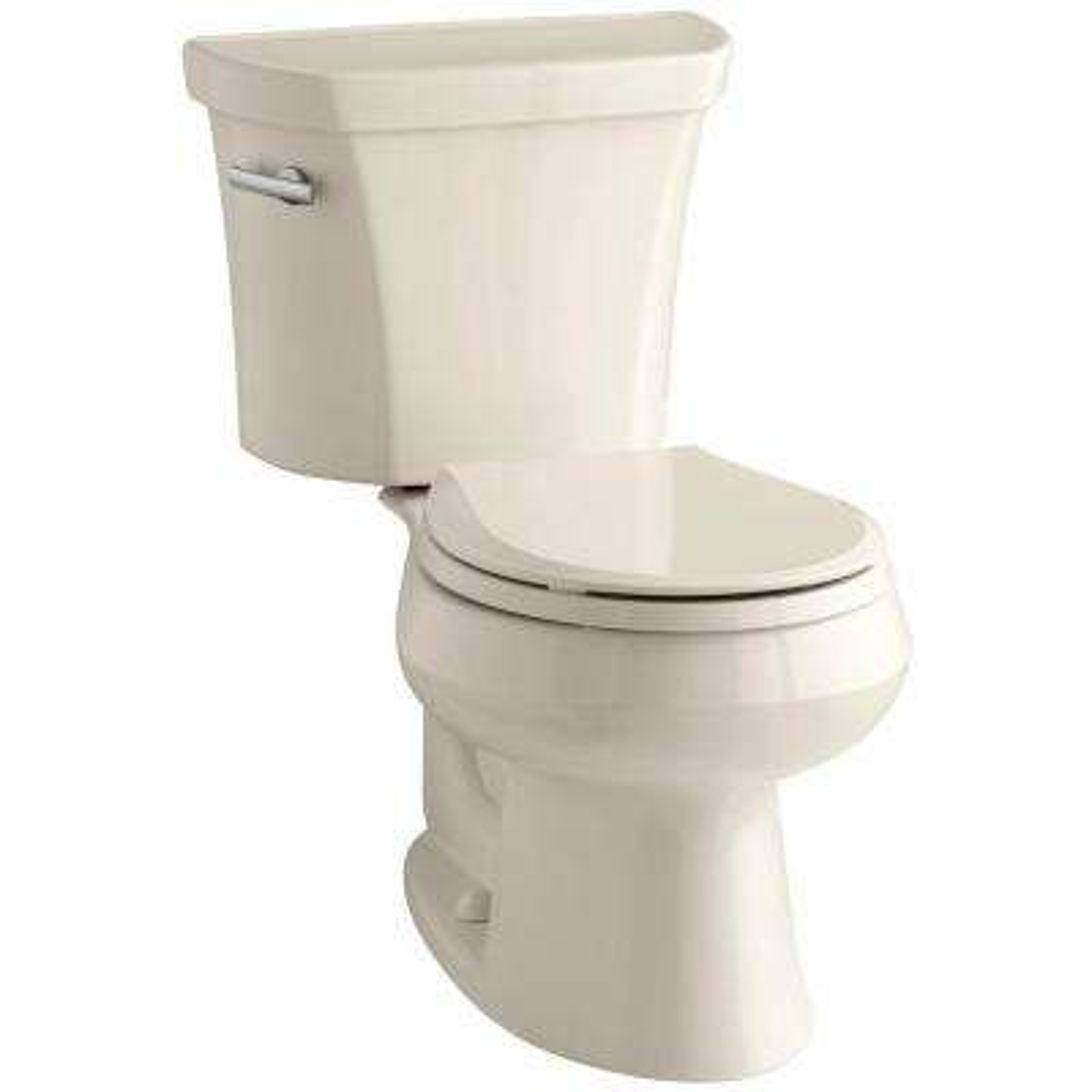 Wellworth 2-piece 1.6 GPF Single Flush Round Toilet in Almond