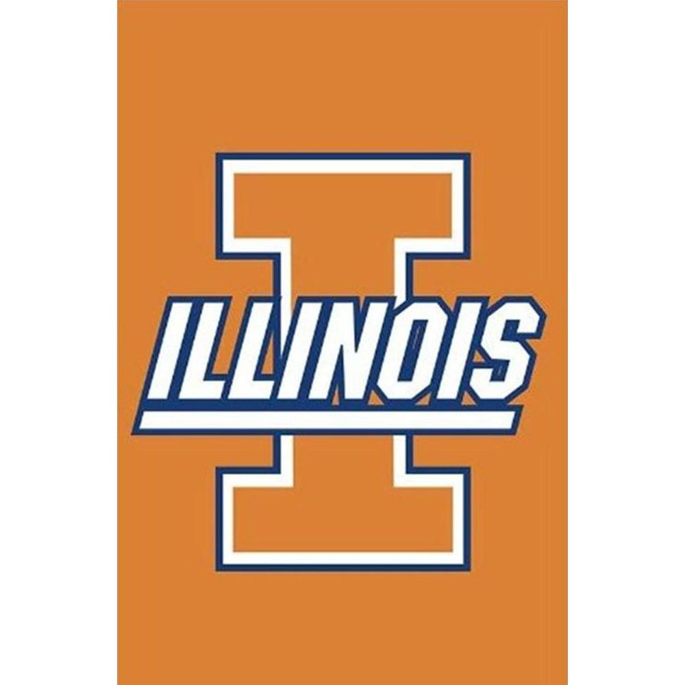 Evergreen Enterprises NCAA 12-1/2 in. x 18 in. Illinois 2-Sided Garden Flag
