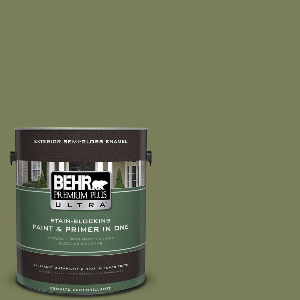 BEHR Premium Plus Ultra 1-gal. #410F-6 Grape Vine Semi-Gloss Enamel Exterior Paint