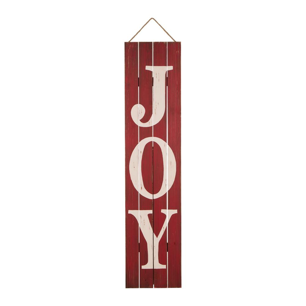Glitzhome 42 in. H Joy Christmas Wooden Porch Sign-1103202652 - The ...