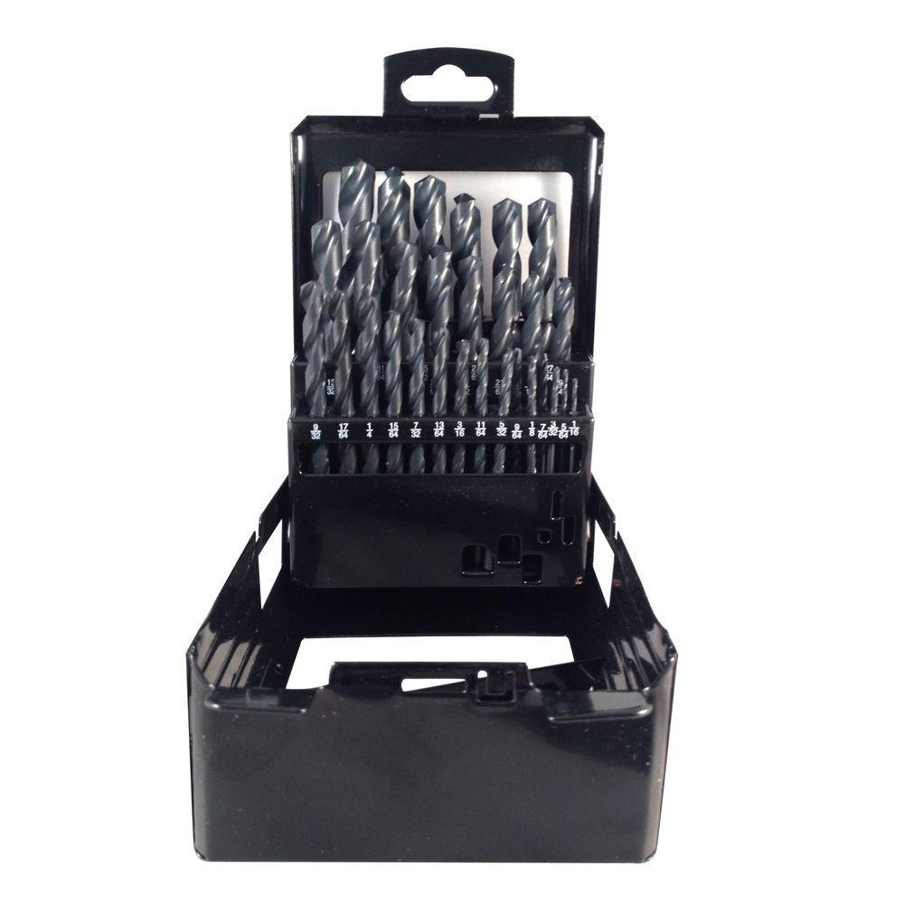 6 in. Diameter Black Oxide Drill Bit Set (29-Piece)