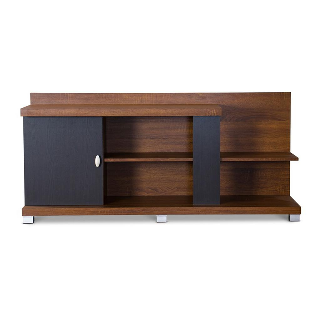 Stratos Medium Brown Wood Finishing TV Stand