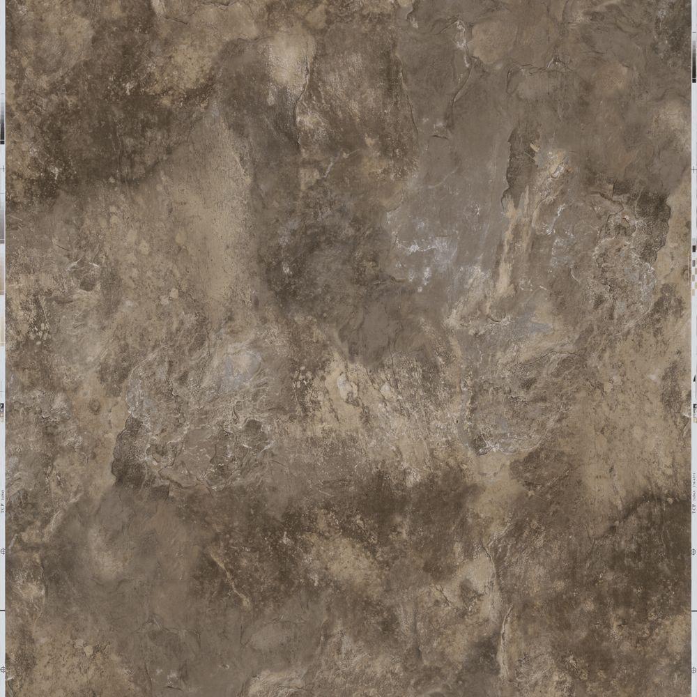 Chestnut 12 in. x 12 in. Peel and Stick Blended Slate Vinyl Tile (30 sq. ft. / case)