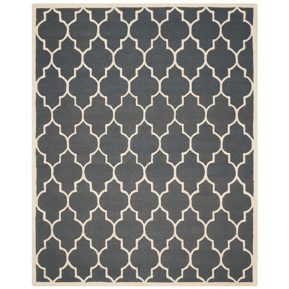 Cambridge Dark Gray/Ivory 9 ft. x 12 ft. Area Rug