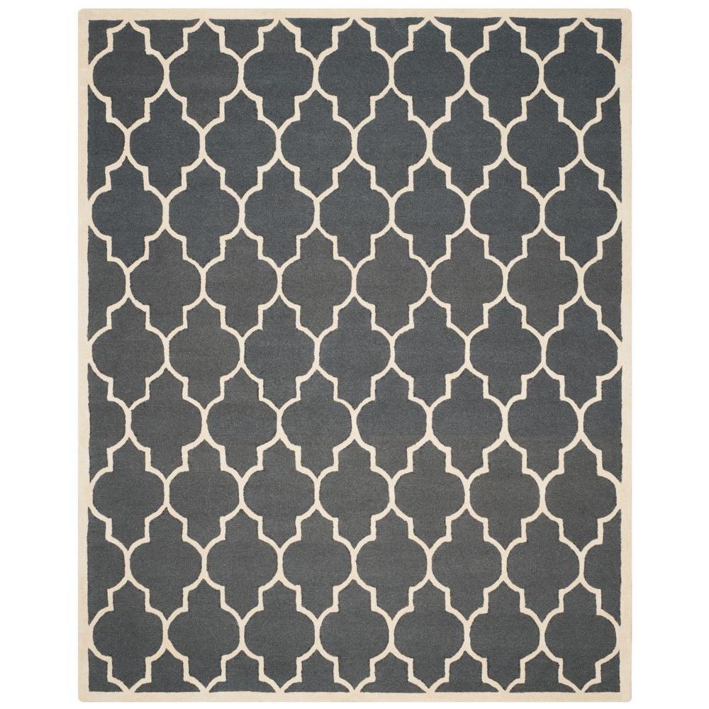 Safavieh Cambridge Dark Gray/Ivory 9 ft. x 12 ft. Area Rug