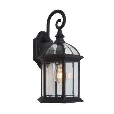 Anita Collection 1-Light Black Outdoor Wall Mount Lamp