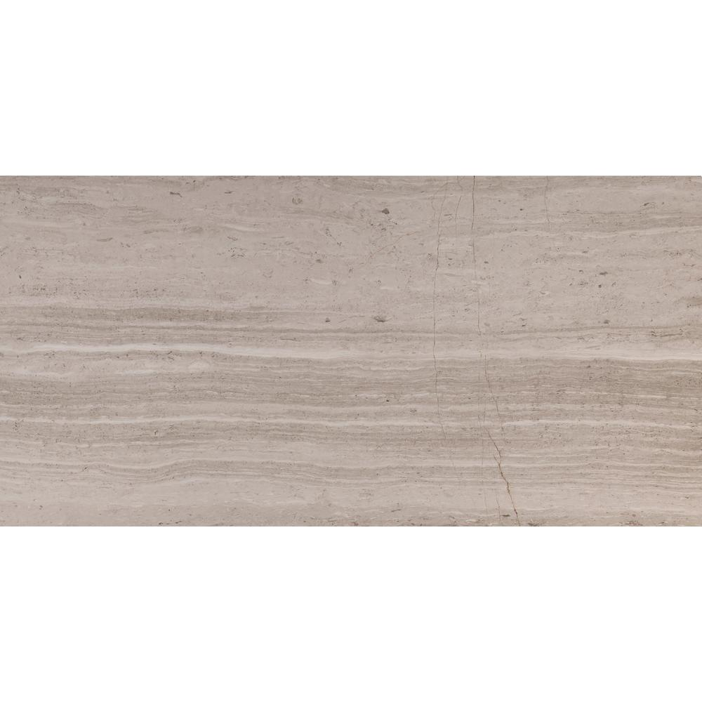 MSI White Oak 12 in. x 24 in. Honed Marble Floor and Wall Tile (10 sq. ft. / case)