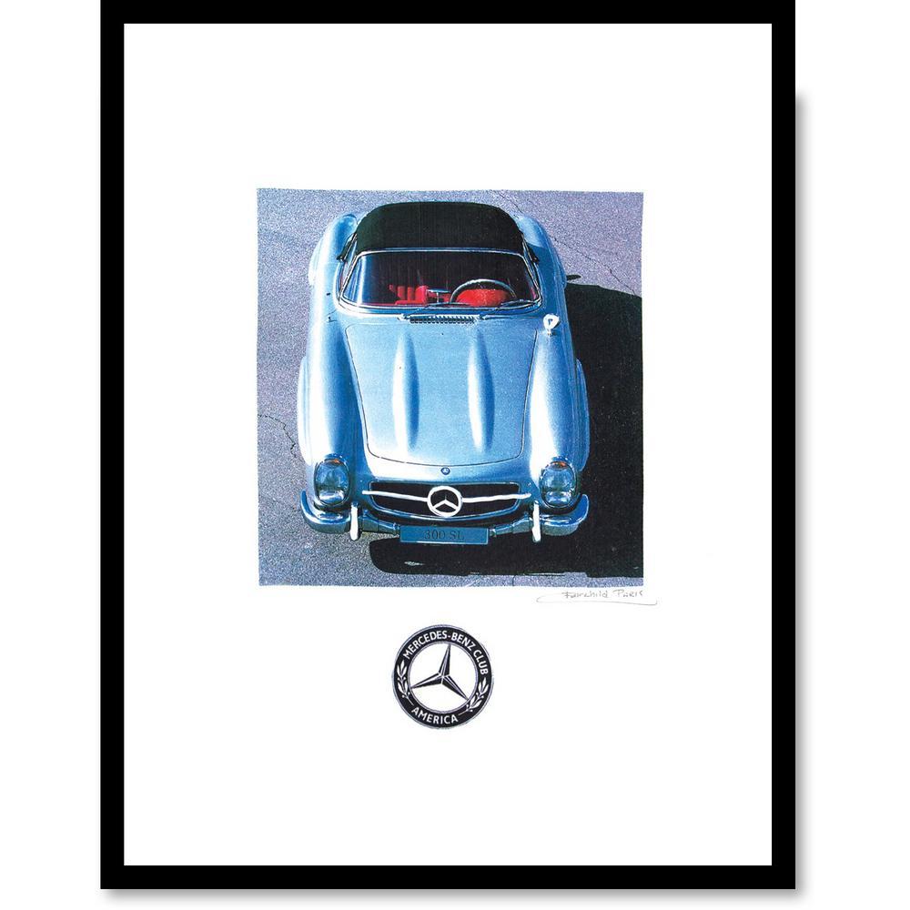 """24 in. x 18 in. """"Mercedes"""" by Fairchild Paris Car Series Framed Print Ad Wall Art"""
