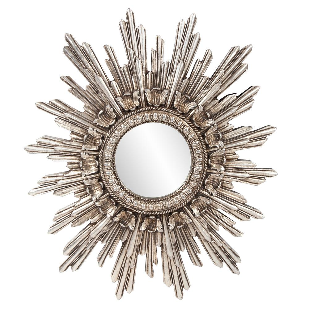 26 in. x 20 in. Chelsea Antique Silver Starburst Mirror