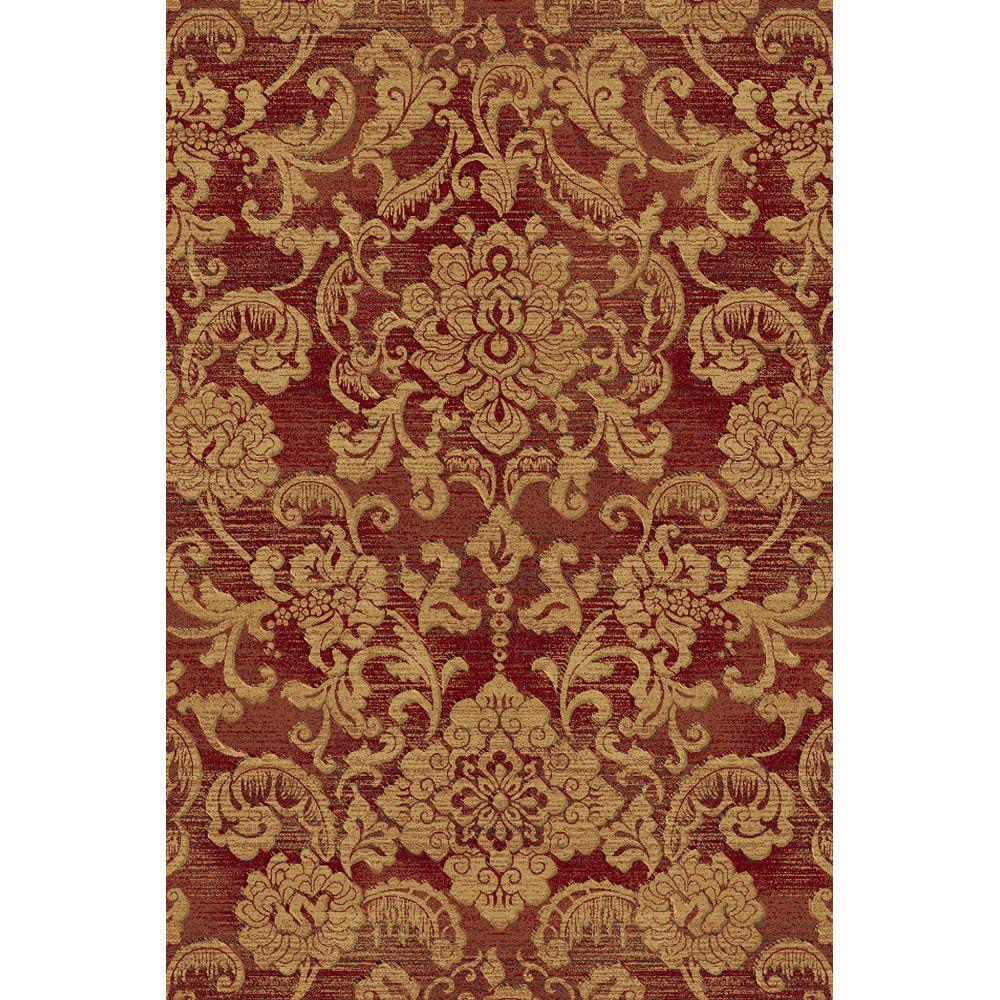 Natco Shadows Londonderry Red 7 ft. 10 in. x 10 ft. 10 in. Area Rug