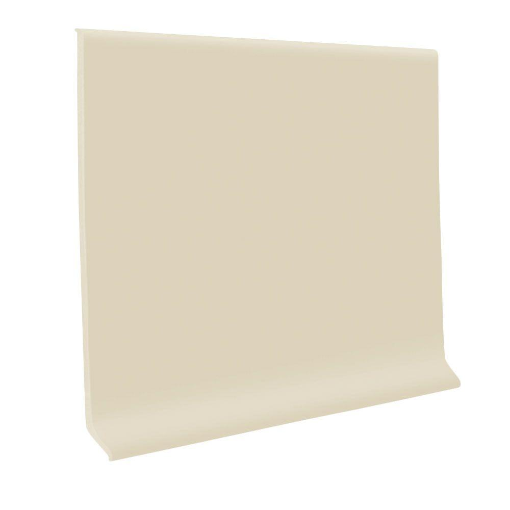 ROPPE 700 Series Ivory 4 in. x 1/8 in. x 48 in. Thermoplastic Rubber Wall Base Cove (30-Pieces)
