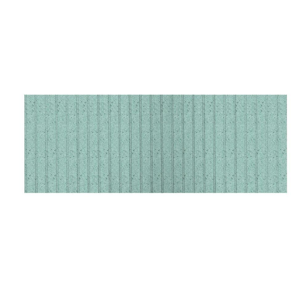 Swanstone 8 ft. x 3 ft. Beadboard One Piece Easy Up Adhesive Wainscot in Tahiti Evergreen-DISCONTINUED