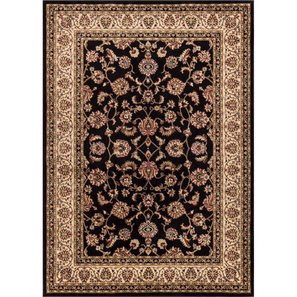 Barclay Sarouk Black 2 ft. 3 in. x 3 ft. 11