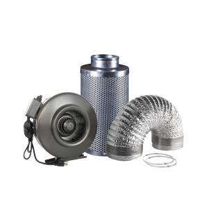 a94fc8a2a6 Hydro Crunch 240 CFM 6 in. Inline Duct Booster Fan for Indoor Garden ...