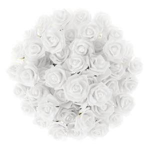Artificial Rose Bundle in White (Set of 50)