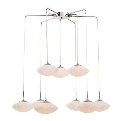 9-Light Polished Chrome Interior Pendant with Crystal