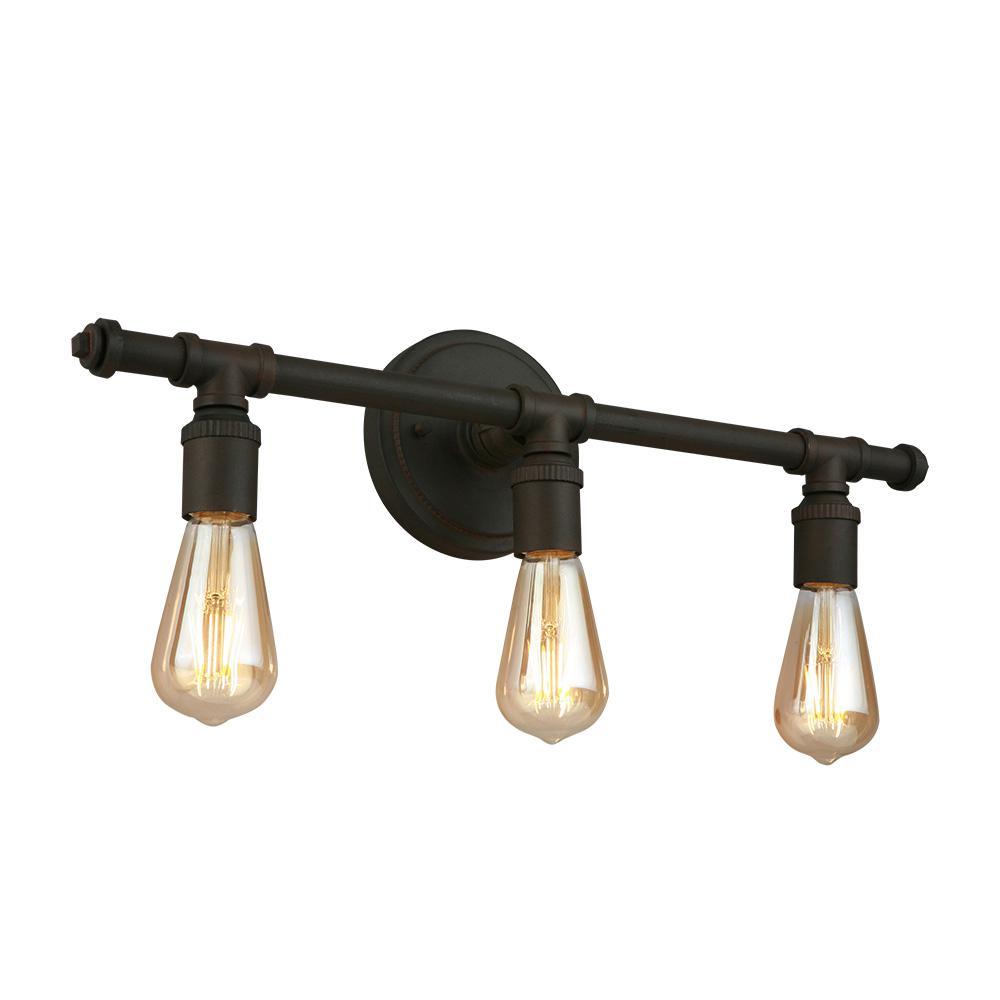 Rivertown 22 in. 3-Light Rustic Bronze Vanity Light