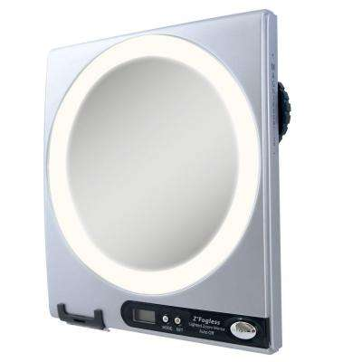 Fogless LED Lighted Shower Mirror in Silver