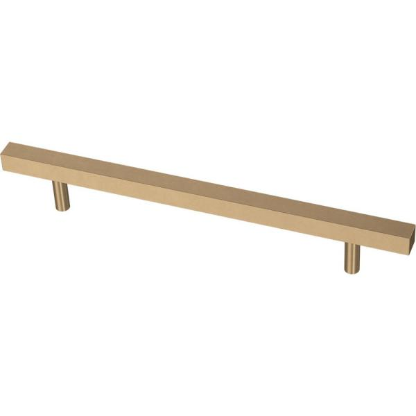 Square Bar 6-5/16 in. (160 mm) Champagne Bronze Cabinet Pull