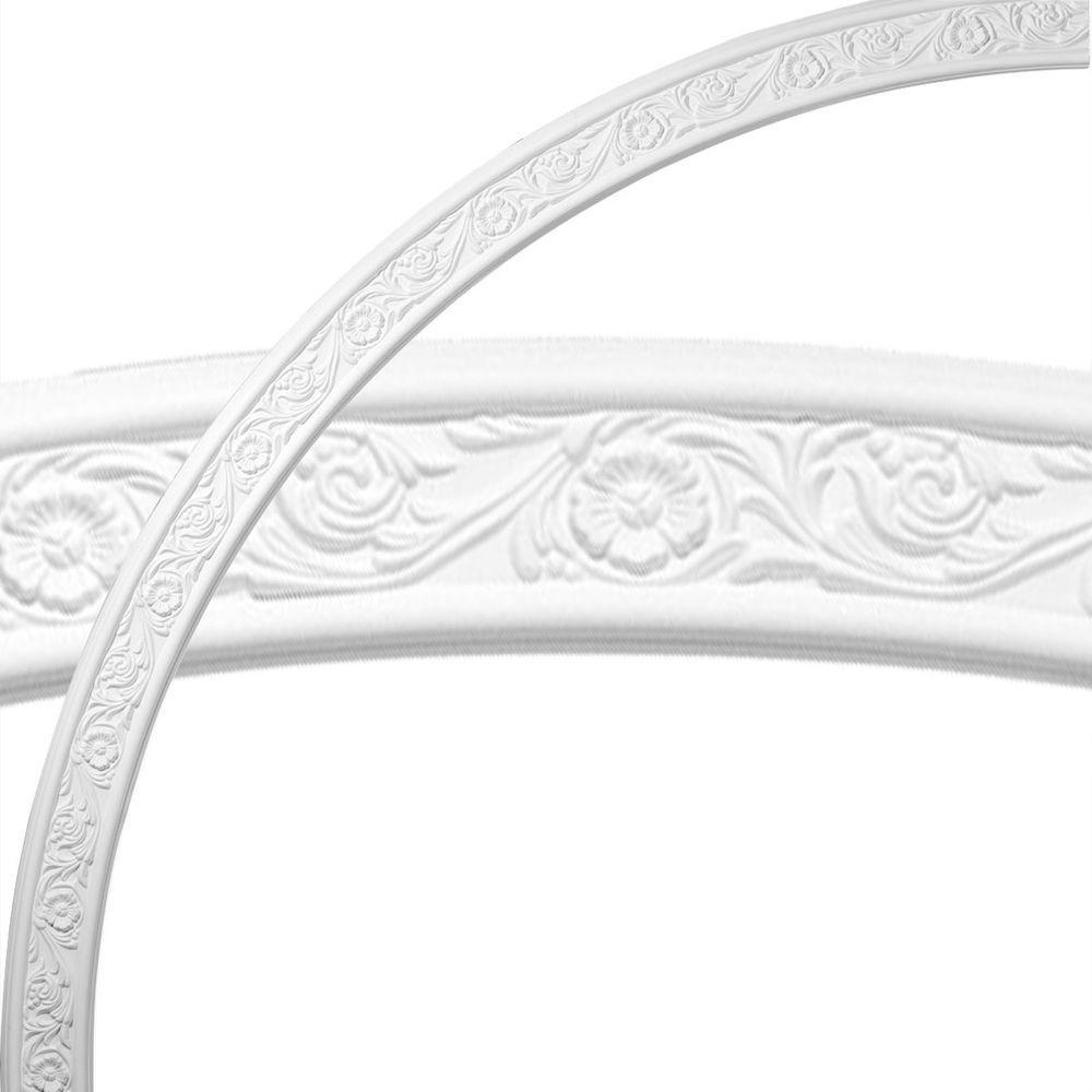 Ekena Millwork 74-3/4 in. Medway Floral Ceiling Ring