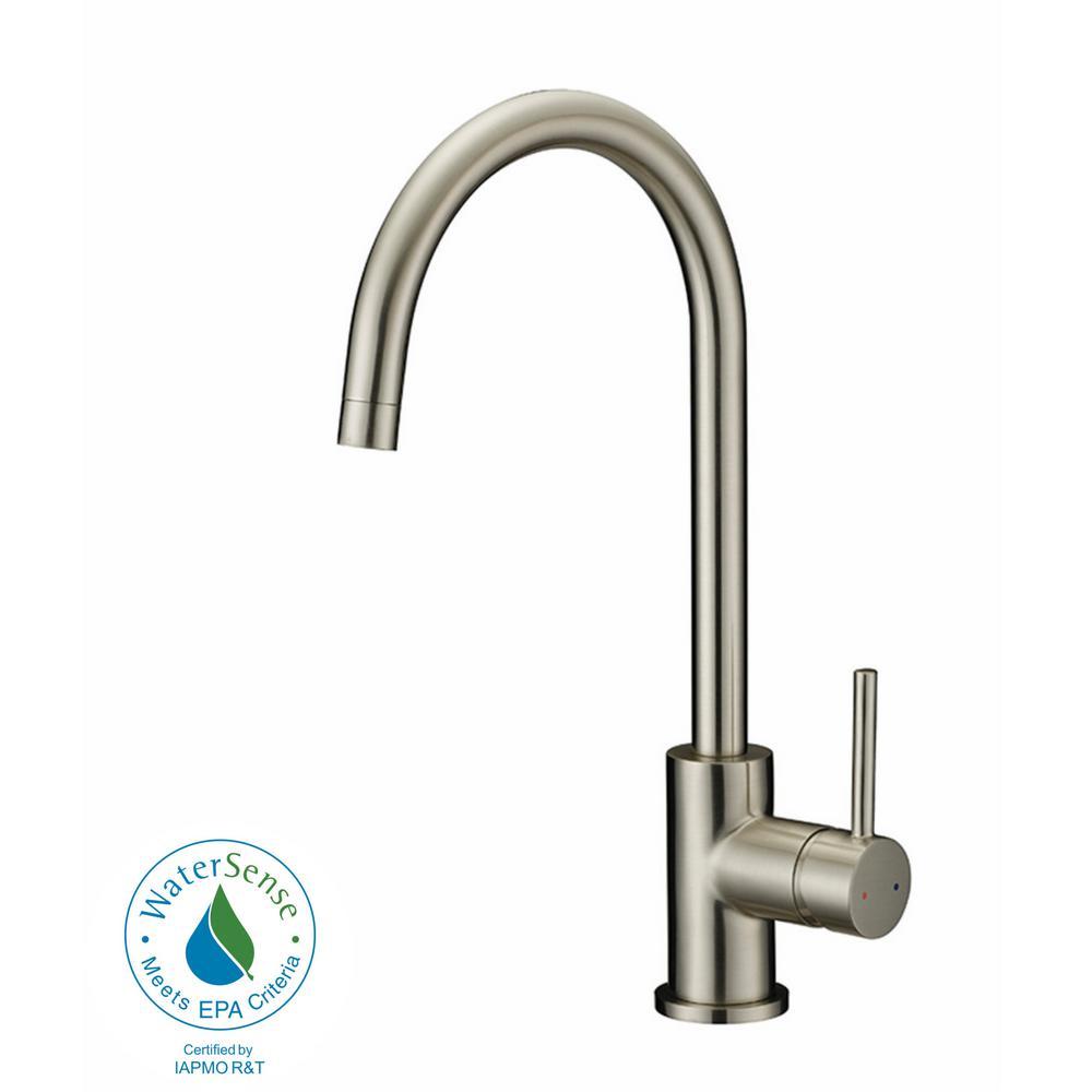 Eastport Single-Handle Standard Kitchen Faucet in Satin Nickel