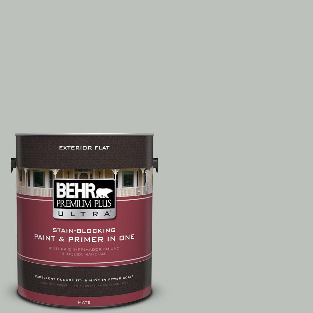 BEHR Premium Plus Ultra 1-gal. #710E-3 Rhino Flat Exterior Paint ...