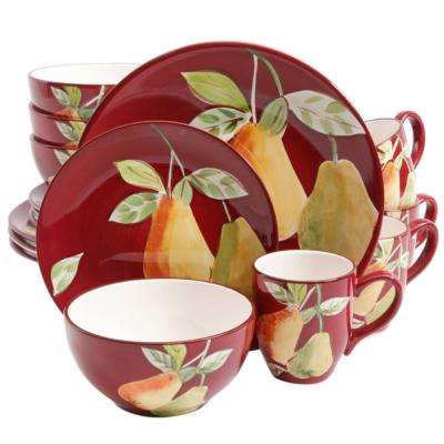 Fruitful Pears 16-Piece Dinnerware Set