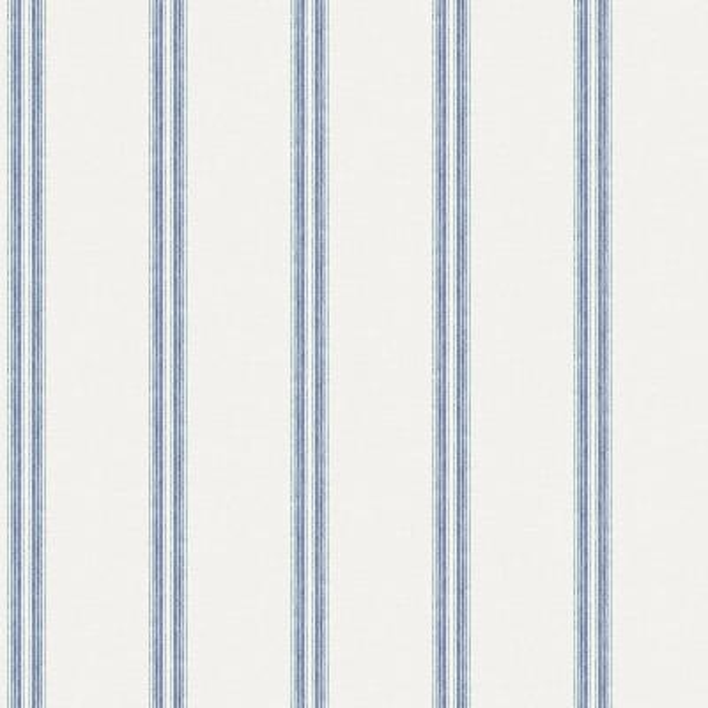 Johnny Navy Stripes Navy Wallpaper Sample