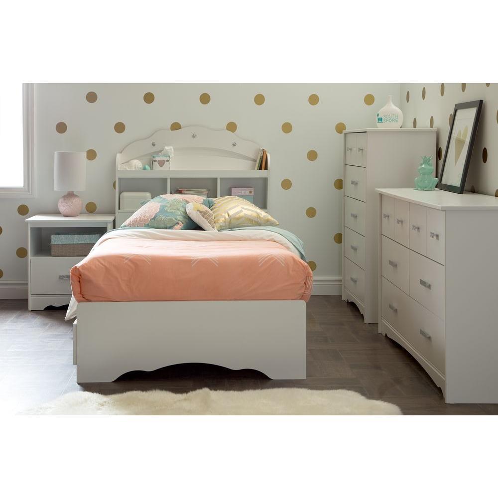 Tiara 6-Drawer Pure White Dresser