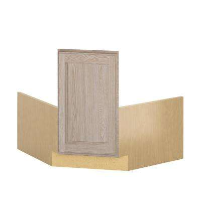 Stratford Ready to Assemble 36x34.5x36 in. Corner Sink Base Cabinet in Unfinished Oak