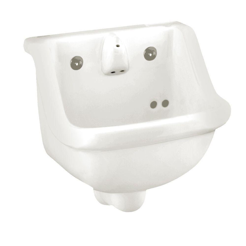 American Standard Prison Wall-Mounted Bathroom Sink in White