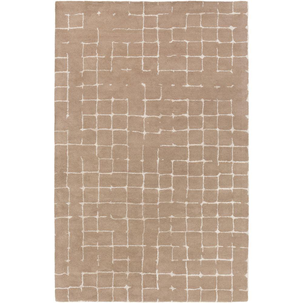 Silema Taupe 8 ft. x 11 ft. Indoor Area Rug