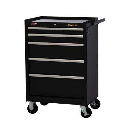 27 in. W 5-Drawer Tool Cabinet, Black